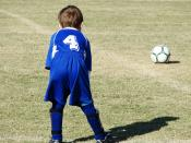 English: Child Soccer player.