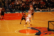 Philadelphia 76ers against New York Knicks, with Andre Miller, David Lee and Stephon Marbury among others.