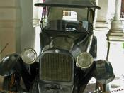 Dodge automobile in which Pancho Villa was assassinated, Historical Museum of the Mexican Revolution.