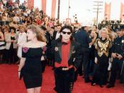 Drew Barrymore and Corey Feldman at the 61st Academy Awards 3/29/89