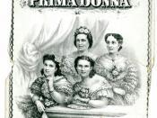 Prima Donna clipper ship card