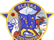 English: Image of an Alaska State Trooper patch, Made with Photoshop.