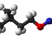 Ball-and-stick model of amyl nitrite