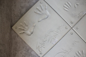 English: Hand-Prints of Sylvester Stallone from 1991 at the old Planet Hollywood building in Reno/Tahoe.