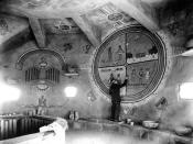 08801 Grand Canyon Historic- Fred Kabotie Painting Interior c.1932