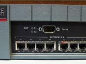 English: FORE Systems ForeRunnerLE 25 Mbps Asynchronous Transfer Mode (ATM) switch.