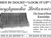 Ad for Encyclopædia Britannica (11th edition, 1911) published May 1913 in National Geographic. Español: Anuncio de la Enciclopedia Británica (1913)