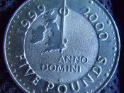 Five Pounds coin 1999 - turn of the century 1999-2000 - Anno Domini