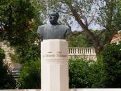 Statue of former Croat president Franjo Tudjman, Selca, Island of Brač, Croatia
