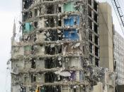 Housing projects in Chicago, IL being demolished.