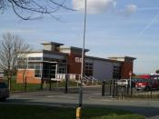 English: Education, Education, Education. One of the new Technology College at The Grange School