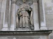 English: Statue of John Henry Newman (Cardinal Newman) at the Church of the Immaculate Heart of Mary, Brompton Road, London, England. Popularly called Brompton Oratory. Photographed by me 29 September 2006. Oosoom