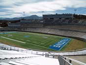 The Falcon Stadium at the United States Air Force Academy in Colorado Springs, Colorado.