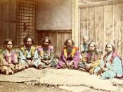 Ainu, an ethnic minority people from Japan (between 1863 and early 1870s).
