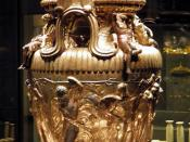 The Derveni krater, late 4th century B.C., Pentheus dressed as an armed hunter, Archaeological Museum, Thessaloniki, Greece