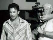 English: Alejandro Alcondez during the filming of Cielito Lindo
