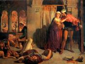 The flight of Madeline and Porphyro, painting by William Holman Hunt