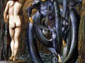 Perseus saves the Princess Andromeda in this painting by Edward Burne-Jones.