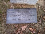Grave of at . Text: