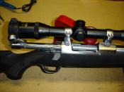 Rifle action from Ruger Model 77 Mark II Stainless (.204)