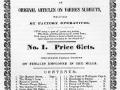 Front page of the Lowell Offering, Number 1 (1840)