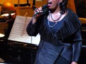Dianne Reeves with the Boston Pops on June 1, 2007.