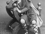 Edited version of photograph of American actor Edwin Booth as William Shakespeare's Hamlet, circa 1870
