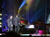 Harry Connick Jr at the Johnny Mercer Theather, Savannah, Georgia Feb 27, 2007. The picture shows Lucien Barbarin and Harry Connick Jr to the left, and Mark Braud to the right. (Grand piano: Steinway & Sons).
