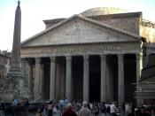Facade du panthéon à Rome
