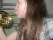 English: a picture of me playing a musical instrument