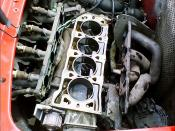 English: The engine block of the Rover K-series 'K18' engine (with the cylinder head removed).