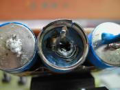 ni-mh battery which popped it's cap due to failed safety valve.