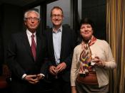 Enzo Viscusi (ENI), John Gapper (Financial Times) and Sonya Fry (Overseas Press Club)