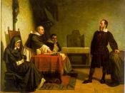 English: Galileo facing the Roman Inquisition, painting by Cristiano Banti