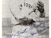 George Halas playing Baseball for the New York Yankees in 1919