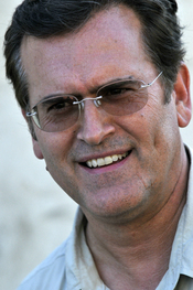 English: Bruce Campbell at a USO tour event near Baghdad, Iraq.