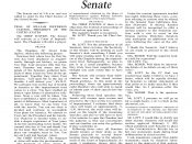 Congressional Record from Feb 12, 1999 showing end of President Clinton's impeachment trial.