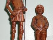 Statues of Don Quixote (left) and Sancho Panza (right)