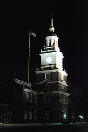 English: The Henry Ford Museum Clock Tower, at night; Dearborn.