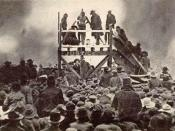 English: Photo of public lynching of Henry Smith in Paris, Texas in 1893.