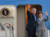 Laura Bush and George W. Bush.