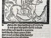 English: The Miller, one of the pilgrims in Chaucer's Canterbury Tales Français : Le Meunier, un des pèlerins des Contes de Canterbury de Chaucer