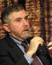 Paul Krugman, Laureate of the Sveriges Riksbank Prize in Economic Sciences in Memory of Alfred Nobel 2008 at a press conference at the Royal Swedish Academy of Sciences in Stockholm