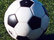 A soccer/football ball.