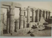 Luxor Temple, Luxor, Egypt. Albumen silver print by Antonio Beato, taken between 1860 and 1889