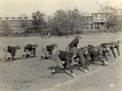 Asheville School's football team, the Blues, in 1919.