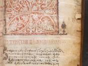 English: the beginning of the Gospel of Matthew