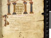 English: the first page of the Gospel of Matthew