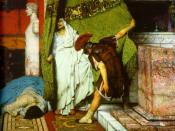 Detail from the painting A Roman Emperor 41AD by Lawrence Alma-Tadema