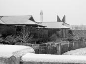 Corning Inc. Headquarters Snowy